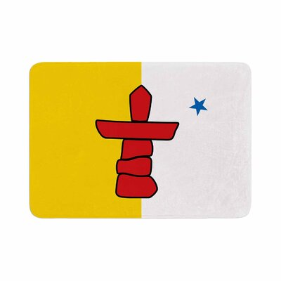 Bruce Stanfield Flag of Nunavut Tribal Memory Foam Bath Rug Size: 0.5 H x 24 W x 36 D