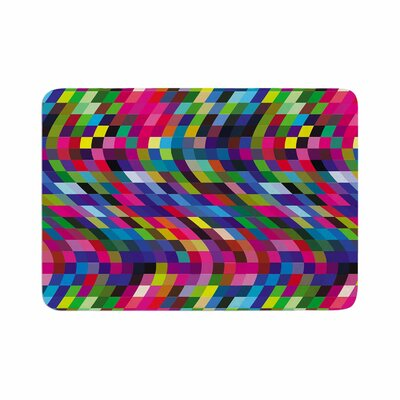 Dawid Roc Colorful Geometric Movement 1 Abstract Memory Foam Bath Rug Size: 0.5 H x 17 W x 24 D