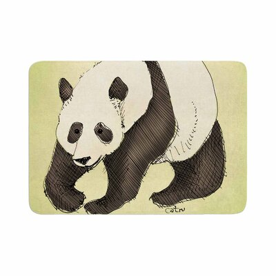Carina Povarchik Happy Panda Animals Memory Foam Bath Rug Size: 0.5 H x 24 W x 36 D