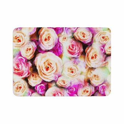 Dawid Roc Sweet Rose Flowers Floral Memory Foam Bath Rug Size: 0.5 H x 17 W x 24 D