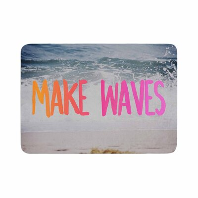 Make Waves Photography Memory Foam Bath Rug Size: 0.5 H x 24 W x 36 D