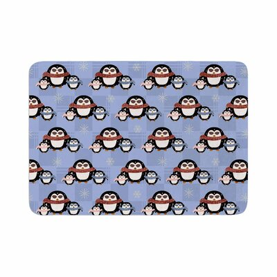 Cristina Bianco Design Cute Penguins Pattern Memory Foam Bath Rug Size: 0.5