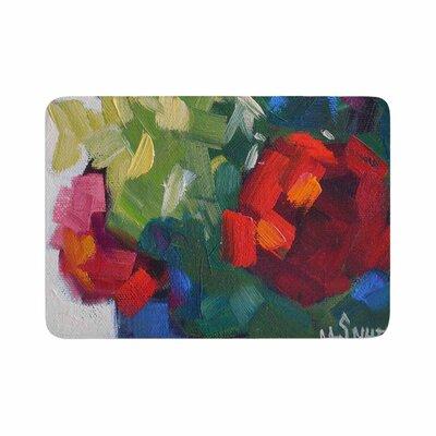 Carol Schiff Cheerful Geranium Painting Memory Foam Bath Rug Size: 0.5 H x 24 W x 36 D