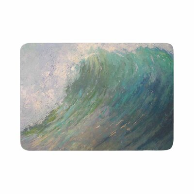 Carol Schiff Wall of Water Painting Memory Foam Bath Rug Size: 0.5 H x 24 W x 36 D