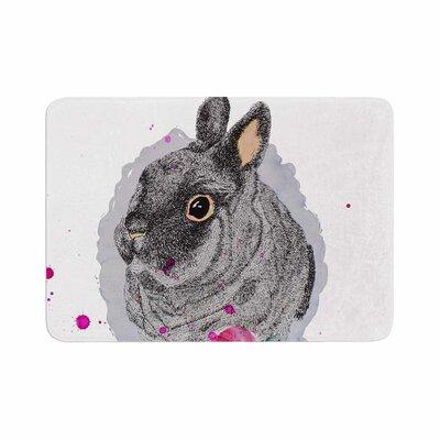 Cecibd BunnyRose Animals Painting Memory Foam Bath Rug Size: 0.5 H x 17 W x 24 D