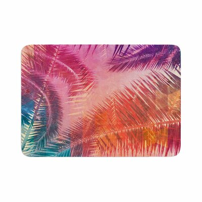 Cafelab Pop Tropical Abstract Memory Foam Bath Rug Size: 0.5 H x 17 W x 24 D
