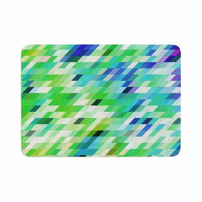 Dawid Roc Colorful Summer Geometric Abstract Memory Foam Bath Rug Size: 0.5 H x 24 W x 36 D