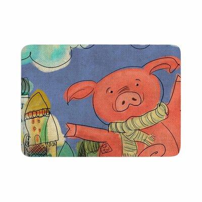 Carina Povarchik Happy Urban Pig Memory Foam Bath Rug Size: 0.5 H x 17 W x 24 D