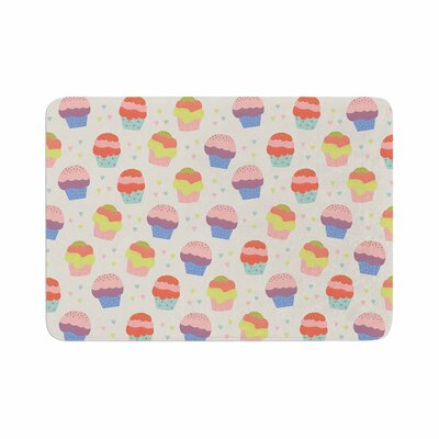 Cristina Bianco Design Cupcakes Food Memory Foam Bath Rug Size: 0.5 H x 17 W x 24 D