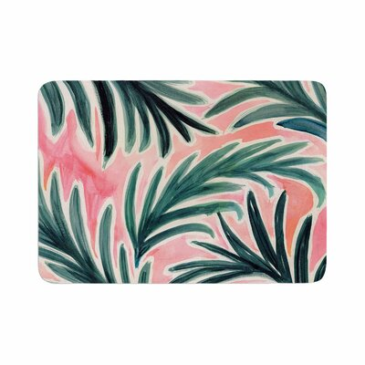 Crystal Walen Lush Palm Leaves Memory Foam Bath Rug Size: 0.5 H x 17 W x 24 D