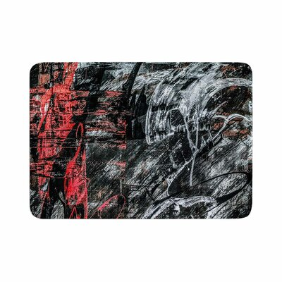 Bruce Stanfield Areus Abstract Memory Foam Bath Rug Size: 0.5 H x 24 W x 36 D