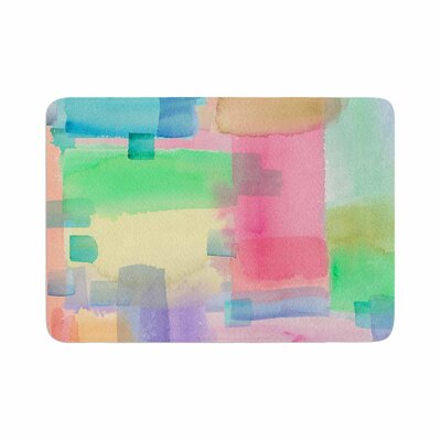 Catherine Holcombe Watercolor Brushstrokes Modern Memory Foam Bath Rug Size: 0.5 H x 24 W x 36 D