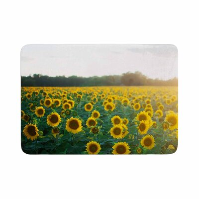 Sunflower Fields Floral Photography Memory Foam Bath Rug Size: 0.5 H x 24 W x 36 D