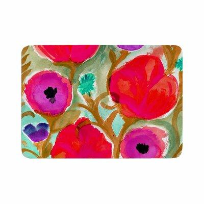 Crystal Walen Fiona Flower Memory Foam Bath Rug Size: 0.5 H x 17 W x 24 D