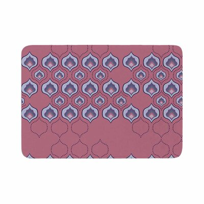 Fernanda Sternieri Happy Path in Coral Memory Foam Bath Rug Size: 0.5 H x 17 W x 24 D