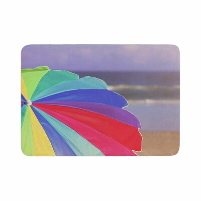 Angie Turner Beach Umbrella Coastal Photography Memory Foam Bath Rug Size: 0.5 H x 24 W x 36 D