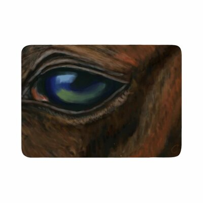 Cyndi Steen Arabian Eye Animals Memory Foam Bath Rug Size: 0.5