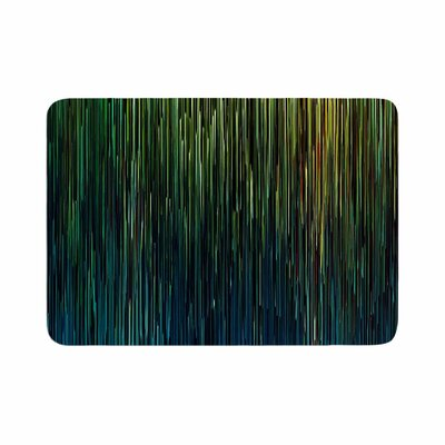 Ginkelmier Planet Pixel Billboard Digital Memory Foam Bath Rug Size: 0.5 H x 17 W x 24 D