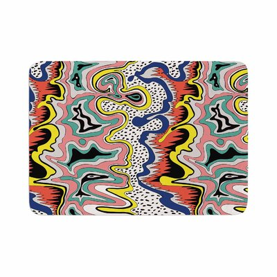 DLKG Design Modern Expression Abstract Illustration Memory Foam Bath Rug Size: 0.5 H x 17 W x 24 D