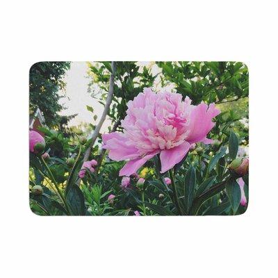 Peonies Floral Memory Foam Bath Rug Size: 0.5 H x 24 W x 36 D