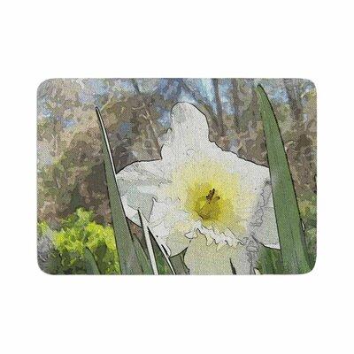 Cyndi Steen Daffodil Digital Memory Foam Bath Rug Size: 0.5 H x 24 W x 36 D
