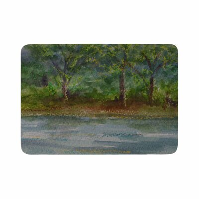 Cyndi Steen Storm on the Pond Memory Foam Bath Rug Size: 0.5 H x 24 W x 36 D