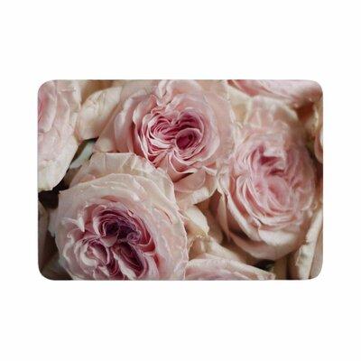 Crissy Mitchell Roses Floral Memory Foam Bath Rug Size: 0.5 H x 17 W x 24 D