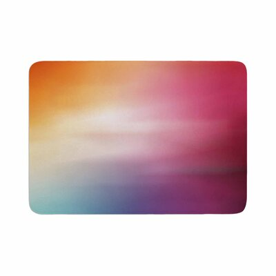 Color Rush Love Memory Foam Bath Rug Size: 0.5 H x 24 W x 36 D