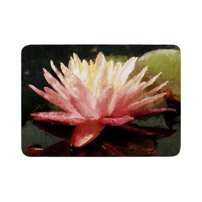 Cyndi Steen Painted Water Lily Floral Memory Foam Bath Rug Size: 0.5 H x 24 W x 36 D