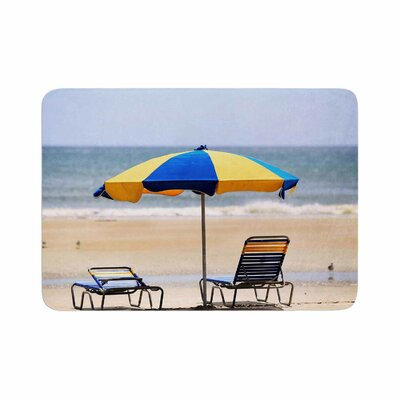 Angie Turner Umbrella Coastal Photography Memory Foam Bath Rug Size: 0.5 H x 24 W x 36 D