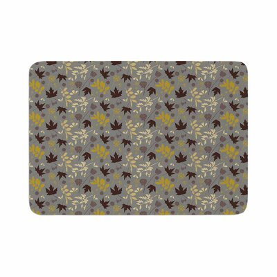 Mayacoa Studio Fall Leaves Floral Memory Foam Bath Rug Size: 0.5 H x 17 W x 24 D