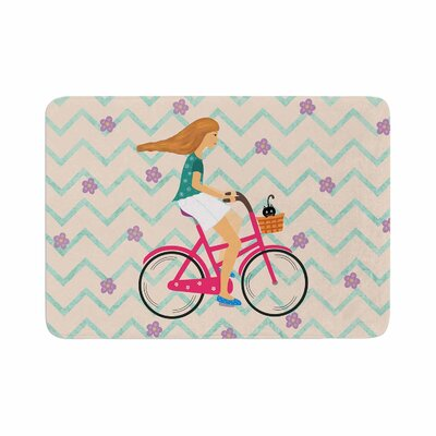 Cristina Bianco Design Bicycle Ride Memory Foam Bath Rug Size: 0.5 H x 17 W x 24 D