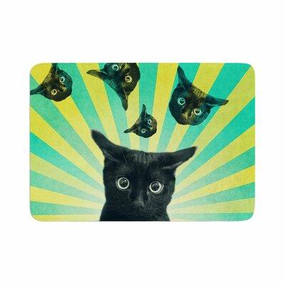 Cvetelina Todorova Cat Explosion Memory Foam Bath Rug Size: 0.5 H x 24 W x 36 D