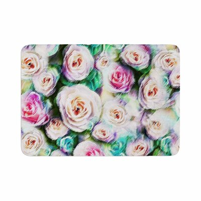 Dawid Roc Bright Rose Floral Abstract Floral Memory Foam Bath Rug Size: 0.5 H x 24 W x 36 D