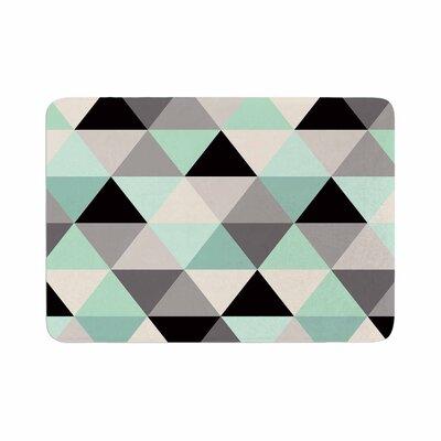 Crystal Walen Triangle Geo Memory Foam Bath Rug Size: 0.5 H x 24 W x 36 D