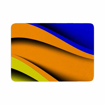 Fotios Pavlopoulos Colorful Flow Abstract Digital Memory Foam Bath Rug Size: 0.5 H x 17 W x 24 D