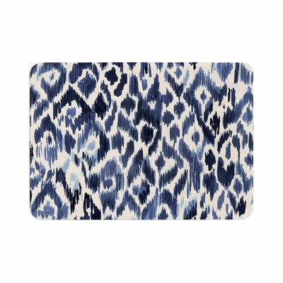 Crystal Walen Leopard Tribal Indigo Watercolor Memory Foam Bath Rug Size: 0.5 H x 24 W x 36 D