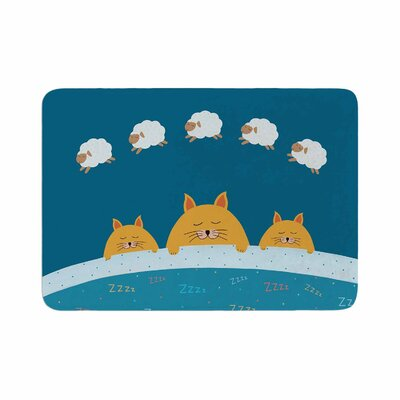 Cristina bianco Design Sleeping Cats Zzzz Animals Memory Foam Bath Rug Size: 0.5 H x 17 W x 24 D