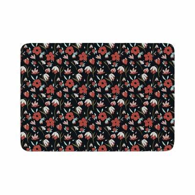 Mayacoa Studio Floral Field Floral Memory Foam Bath Rug Size: 0.5 H x 17 W x 24 D