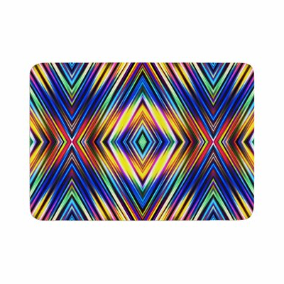 Dawid Roc Multi Colors Modern Tribal Memory Foam Bath Rug Size: 0.5 H x 17 W x 24 D