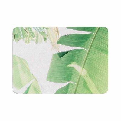 Ann Barnes Banana Leaf I Memory Foam Bath Rug Size: 0.5 H x 24 W x 36 D