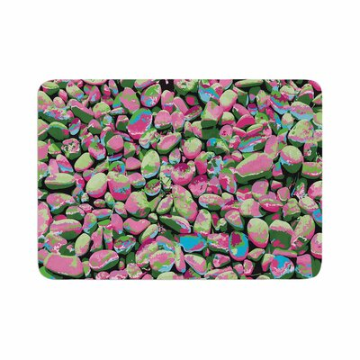 Empire Ruhl Rocks Spring Abstract Memory Foam Bath Rug Size: 0.5 H x 17 W x 24 D