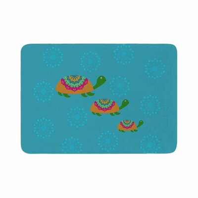 Cristina bianco Design the Turtles Memory Foam Bath Rug Size: 0.5 H x 17 W x 24 D