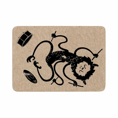 Anya Volk Music Monster Fantasy Memory Foam Bath Rug Size: 0.5 H x 17 W x 24 D