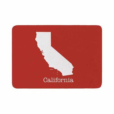 Bruce Stanfield California State Memory Foam Bath Rug Size: 0.5 H x 17 W x 24 D