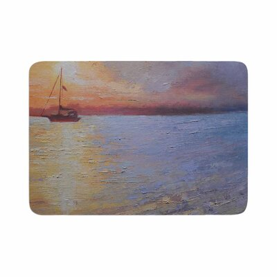 Carol Schiff Evening Anchor Painting Memory Foam Bath Rug Size: 0.5 H x 17 W x 24 D