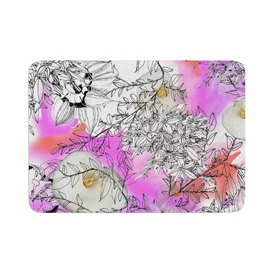 Danii Pollehn Flowerlights Memory Foam Bath Rug Size: 0.5 H x 17 W x 24 D