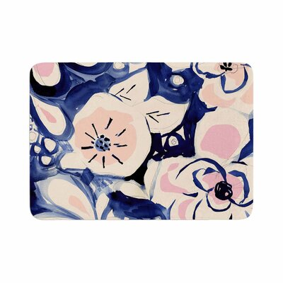 Crystal Walen Midnight Moon Flower Memory Foam Bath Rug Size: 0.5 H x 24 W x 36 D