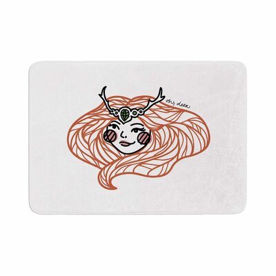 Busy Bree Oh, Deer Illustration Memory Foam Bath Rug Size: 0.5 H x 17 W x 24 D