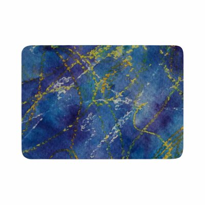Cyndi Steen Deep Abstract Memory Foam Bath Rug Size: 0.5 H x 17 W x 24 D